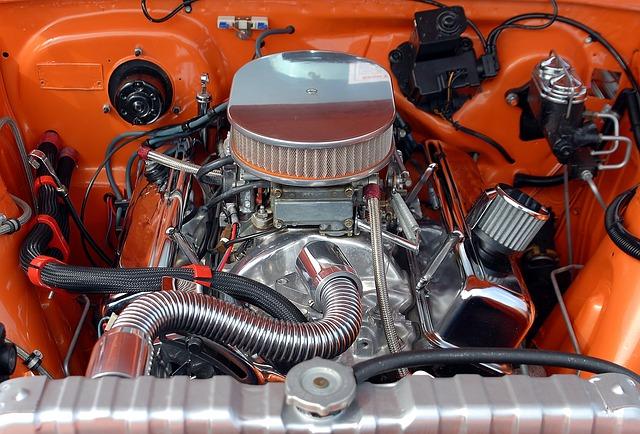 motor starého vozu